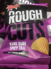 12x Golden Wonder Rough Cuts Bang Bang Spicy Thai Flavour Ridged Crisps (12x47.5g)