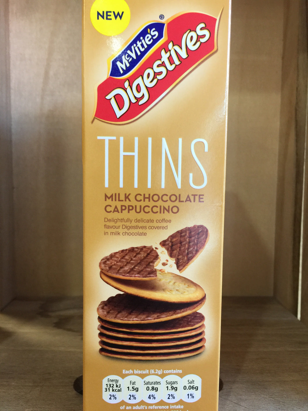 McVities's Digestive Thins Milk Chocolate Cappuccino Biscuits 180g