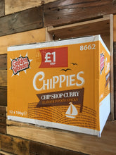 12x Golden Wonder Chippies Chip Shop Curry Flavour Potato Sticks (12x100g Grab Bags