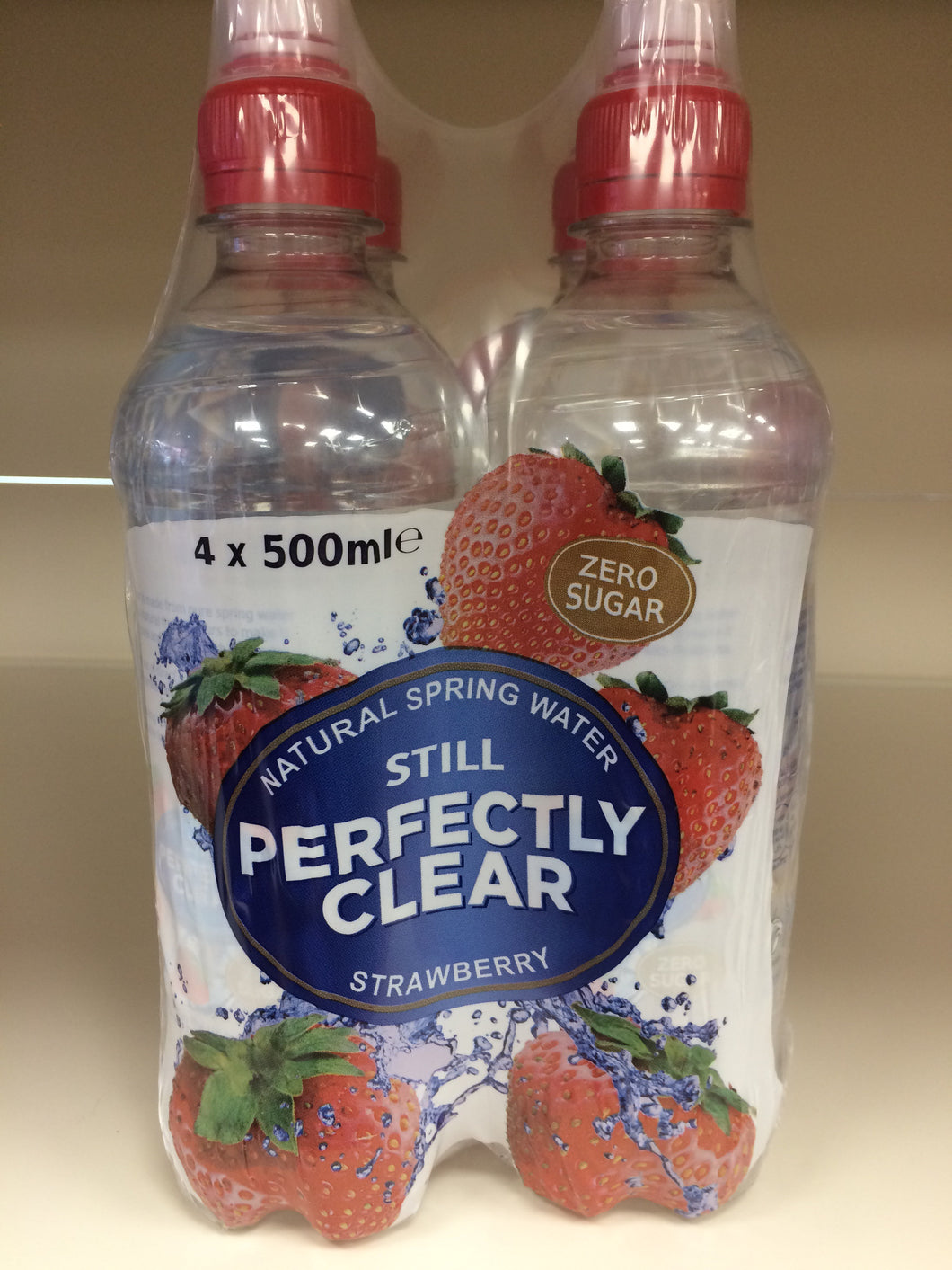 Perfectly Clear Still Water Strawberry 4x500ml