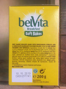 BelVita Breakfast Biscuits Bars Soft Bakes Chocolate Filled (4x50g)