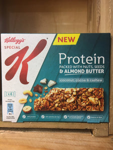 Special K Protein Bars Coconut, Cocoa, Cashew & Almond Butter 4x Pack (4x28g)