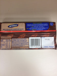 McVities Digestives 5 Slices Topped with Chocolate 114.1g