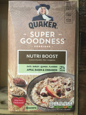 Quaker Oats Super Goodness Porridge Apple, Cinnamon & Raisin 305g
