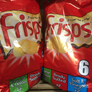 12x Frisps Assorted Crisps (2 Packs of 6x25.5g)