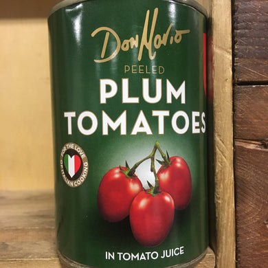 3x Don Mario Peeled Plum Tomatoes in Tomato Juice (3x400g)