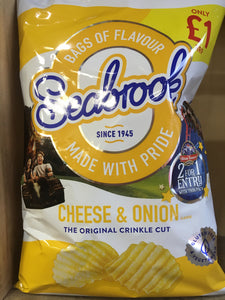 Seabrook Crinkle Cut Crisp Cheese & Onion Sharing Bag 80g