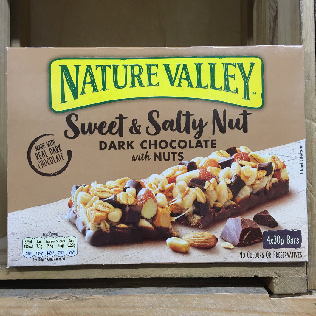 12x Nature Valley Sweet & Salty Nut Dark Chocolate with Nuts Bars (3 Packs of 4x30g)