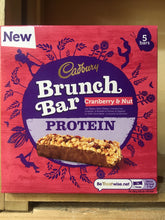 25x Cadbury Brunch Cranberry & Nut Protein Bars (5 Packs of 5x32g Bars)