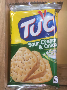 TUC Biscuits Sour Cream & Onion Flavour Snack 6x Biscuit Pack 24g
