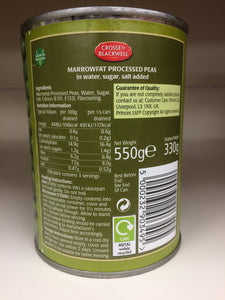 Crosse & Blackwell Marrowfat Processed Peas in Water 550g