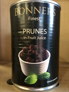 Bonners Finest Prunes in Fruit Juice 410g