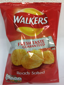 Walkers Ready Salted Crisps 32.5g pack