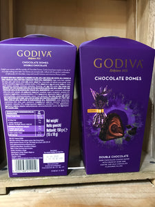 2x Godiva Double Belgian Chocolate Domes (2x150g)