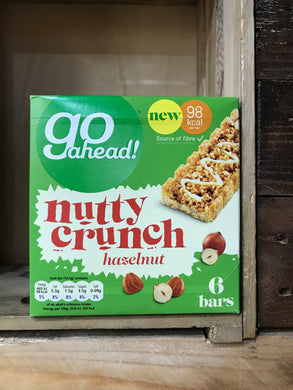 Go Ahead Nutty Crunch Hazelnut 6 Bars 117g