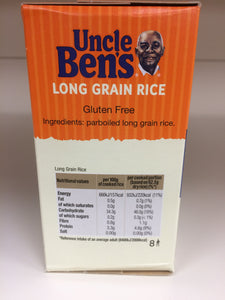 Uncle Bens Boil-in-Bag Long Grain Rice 8x Bags 500g