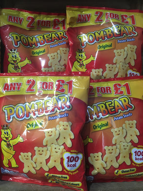 4x Pom-Bear Original Potato Snack (4x19g)