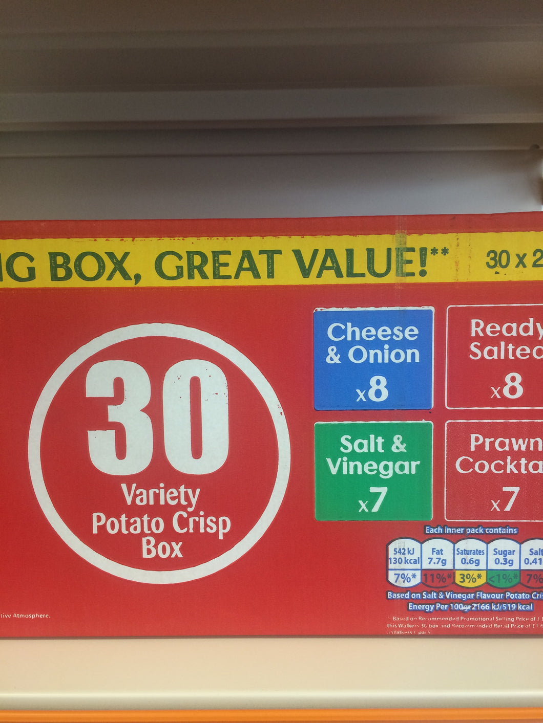 Walkers 30 Packet Variety Box