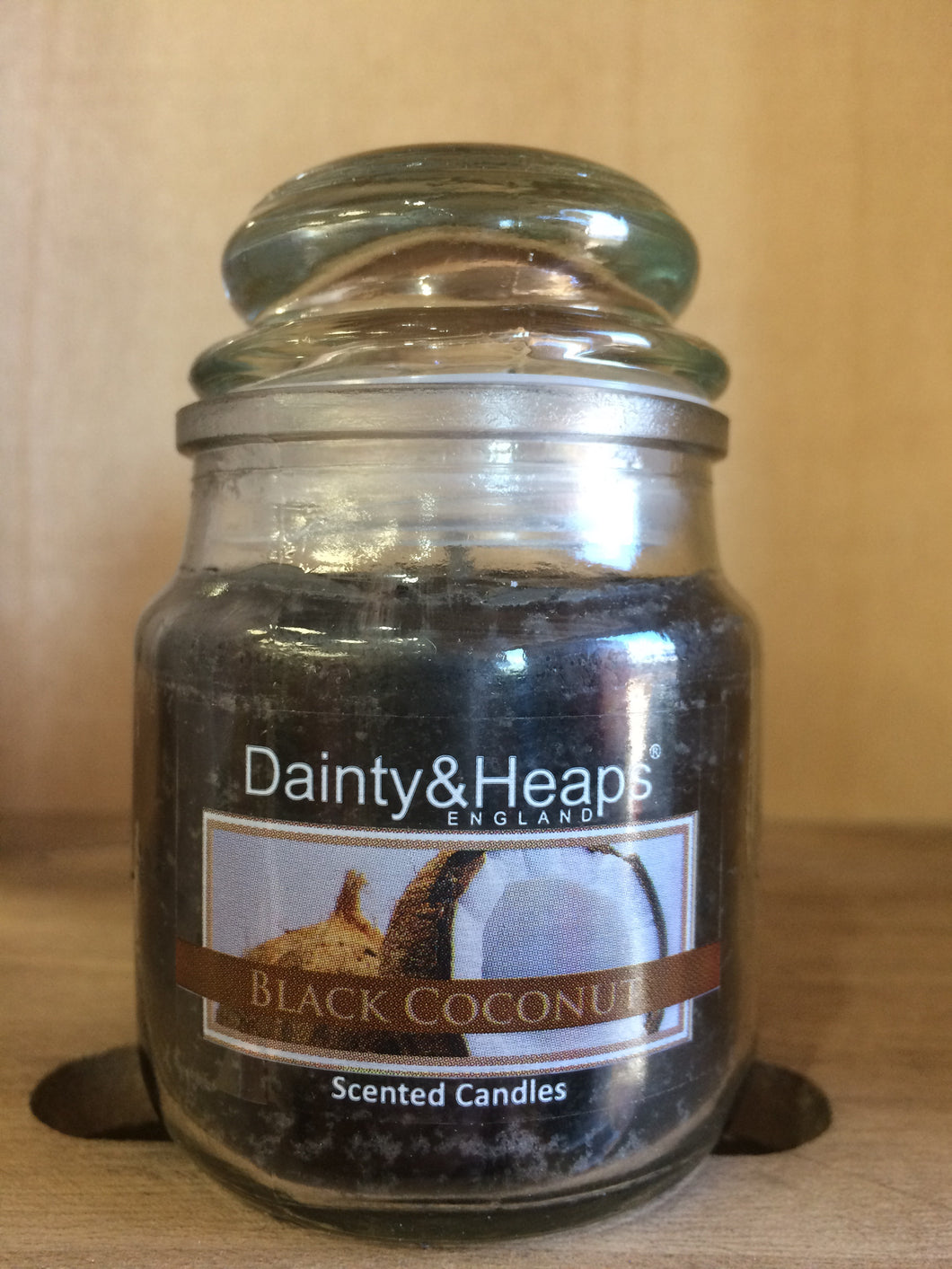 Dainty & Heaps Black Coconut Scented Candle 3oz