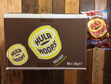 48x Hula Hoops BBQ Beef Potato Rings (48x34g)