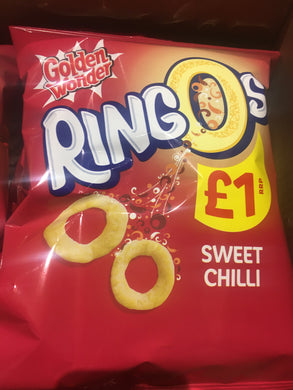 14x Golden Wonder Ringos Sweet Chilli (14x55g)