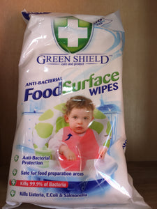 Green Shield Anti-Bacterial Food Surface 70x Wipes