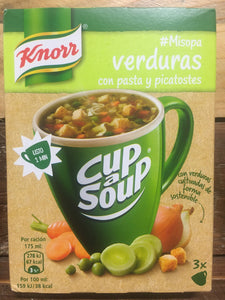 6x Knorr Instant Vegetable Soups with Pasta and Croutons (2 Packs of 3)