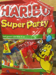 48x Haribo Super Party Mini Bags (3 Packs of 16 Mini Bags)