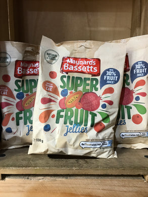 3x Maynards Bassetts Super Fruit Jellies (3x130g)