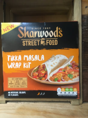 Sharwood's Street Food Tikka Masala Wrap Kit  456g