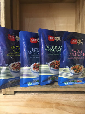 Asia Specialities 4x Stir Fry Sauces (2 Servings each) (4x120g)