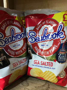 2x Seabrook Sea Salted Crinkle Cut Crisps Sharing Bag (2x80g)