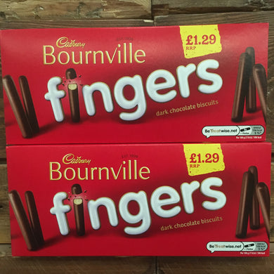 2x Cadbury Bournville Fingers Dark Chocolate Biscuits (2x114g)