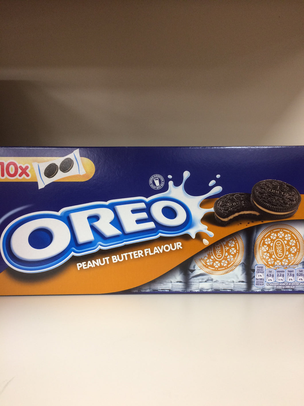 Oreo Peanut Butter Flavour Biscuits 220g