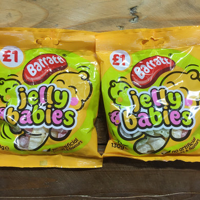 2x Barratt Jelly Babies Sharing Bags (2x130g)