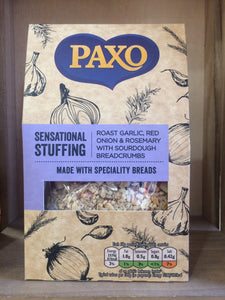 Paxo Sensational Stuffing with Roast Garlic, Rosemary, Red Onion & Sour Dough 110g