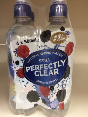Perfectly Clear Still Water Summer Fruits 4x500ml