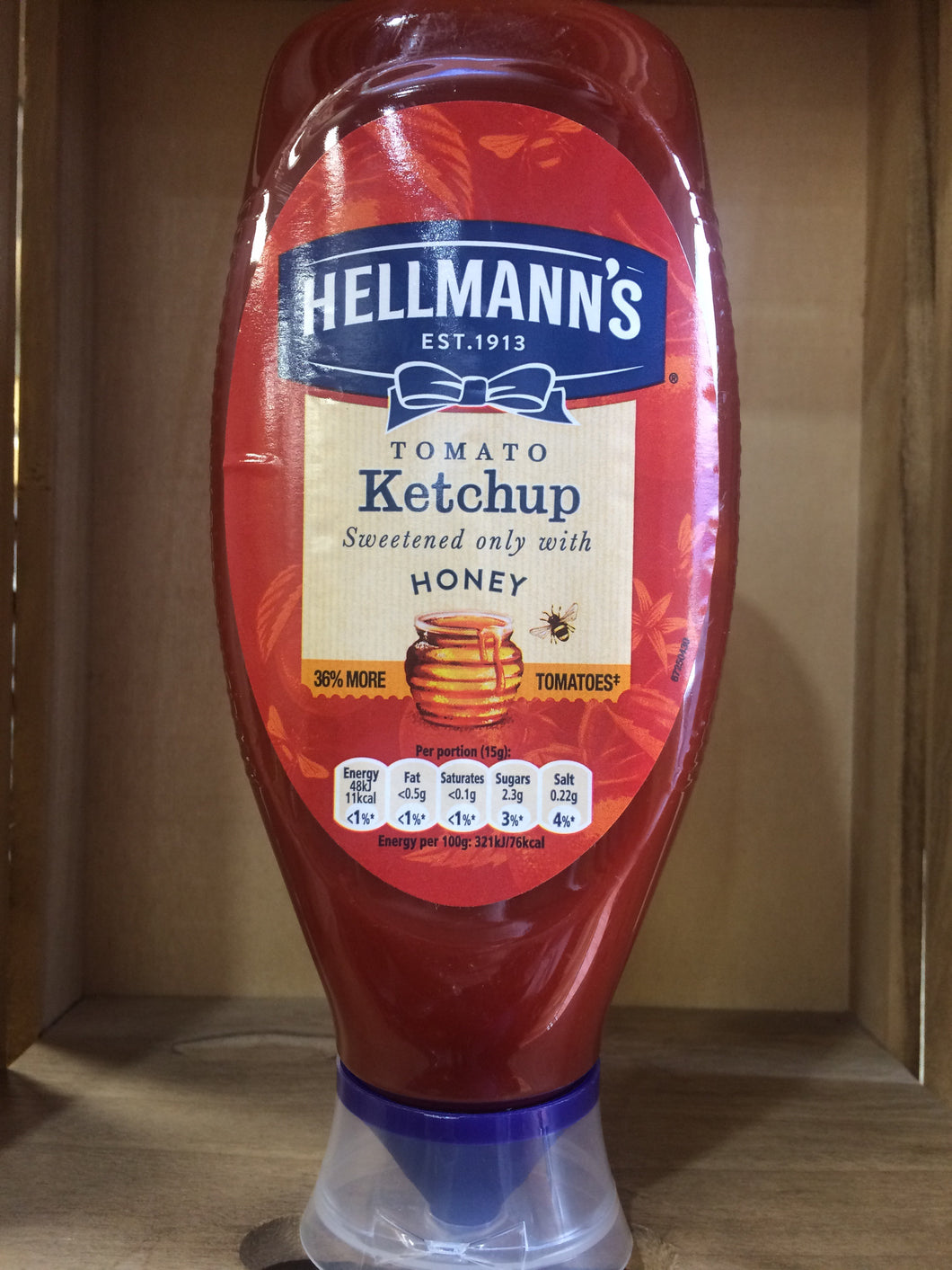 Hellmann's Tomato Ketchup Sweetened with Honey 818g