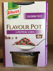 Knorr Flavour Pot 3 Peppercorn 4x23g