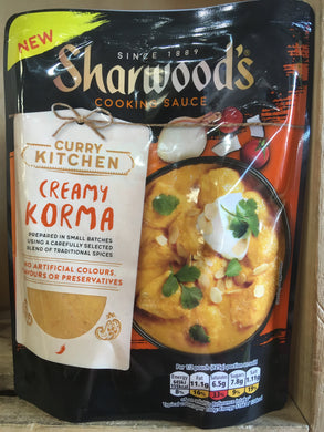 Sharwoods Creamy Korma Curry Cooking Sauce 250g