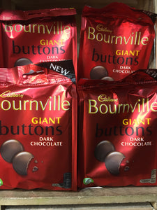 4x Cadbury Bournville Giant Buttons Share Bags (4x110g)