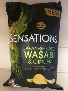 Walkers Sensations Wasabi & Ginger Crisps 150g