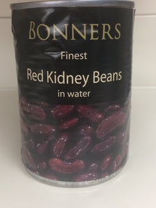 Bonners Red Kidney Beans in Water