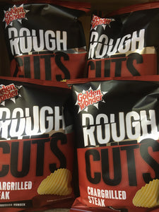 12x Golden Wonder Rough Cuts Chargrilled Steak Flavour Ridged Crisps (12x47.5g)
