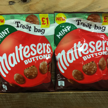 20x Maltesers Buttons Mint Chocolate £ Sharing Bags (20x68g)