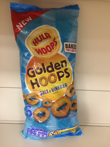 Hula Hoops Golden Hoops Salt & Vinegar Flavour 6x 25g Bags