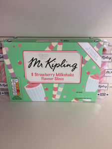 Mr Kipling 8x Strawberry Milkshake Flavour Slices