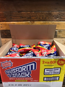30x Golden Wonder Transform-a-Snack Spicy (30x30g)