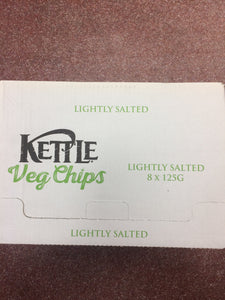 Kettle Veg Chips Lightly Salted Box of 8x 125g Bag