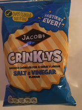 Jacobs Crinklys Salt & Vinegar Baked Snack Grab Bag 50g